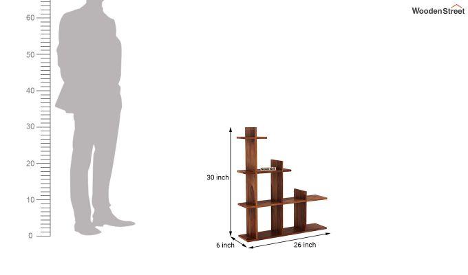 Levant Wall Shelf (Teak Finish)-4