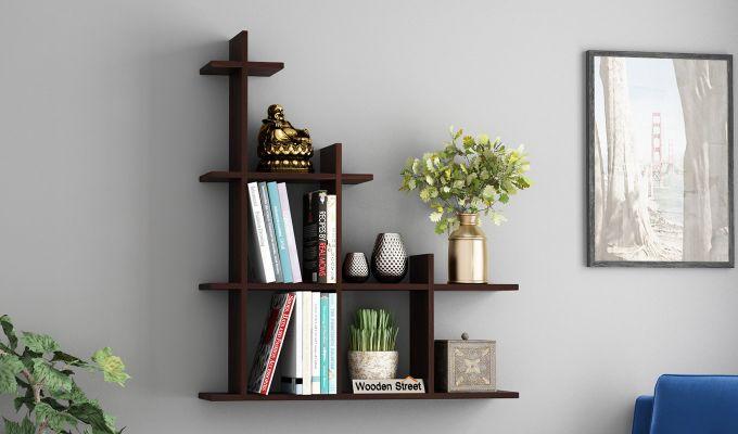 Levant Wall Shelf (Walnut Finish)-1