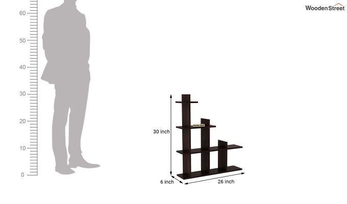Levant Wall Shelf (Walnut Finish)-4
