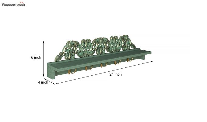 Maiden Wall Shelf with Hooks-4