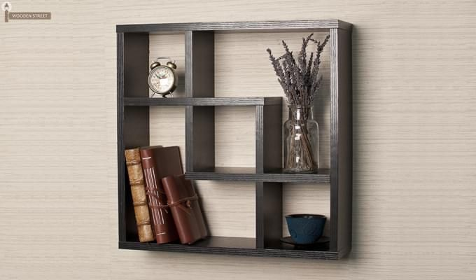 Monopoly Wall Shelves (Black Finish)-1