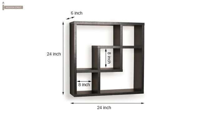 Monopoly Wall Shelves (Black Finish)-3