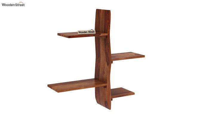 Natura Wall Shelf (Teak Finish)-2