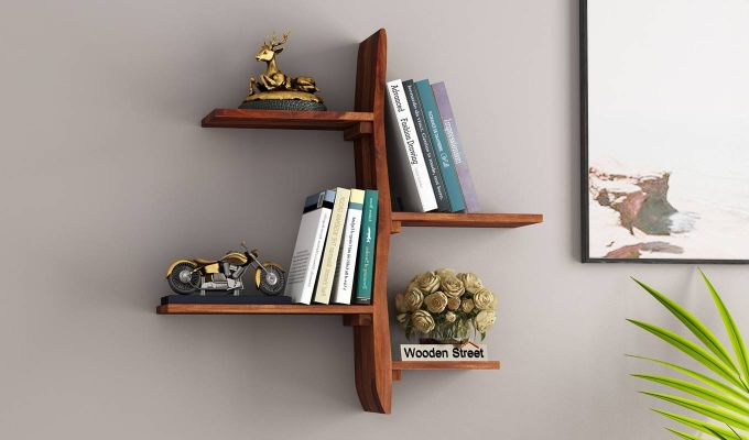 Natura Wall Shelf (Teak Finish)-1
