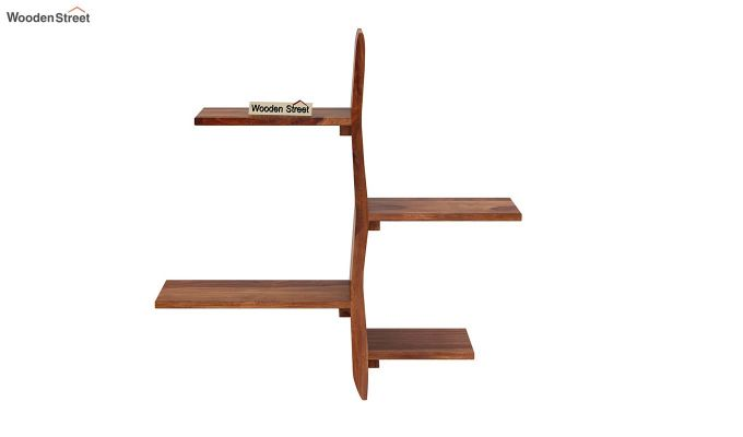 Natura Wall Shelf (Teak Finish)-3