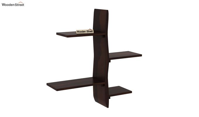 Natura Wall Shelf (Walnut Finish)-2