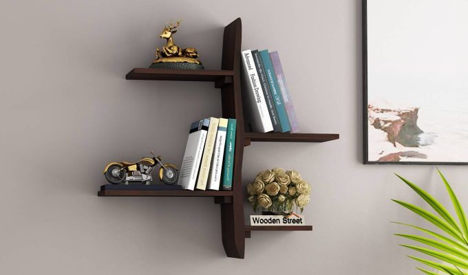 Natura Wall Shelf (Walnut Finish)-1