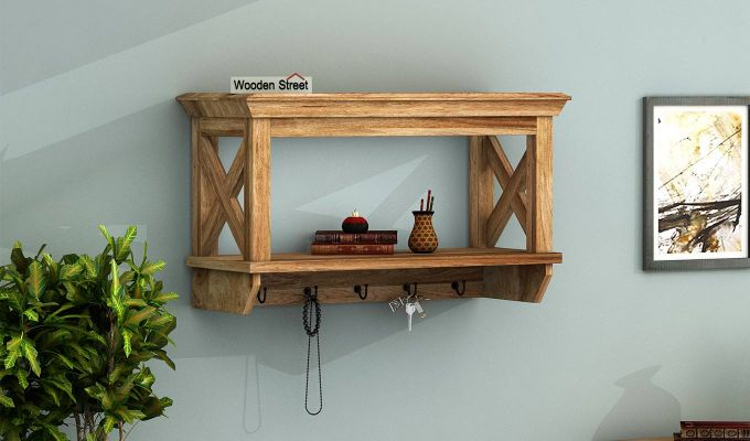 Nature Barn Wall Shelf (Natural Finish)-1