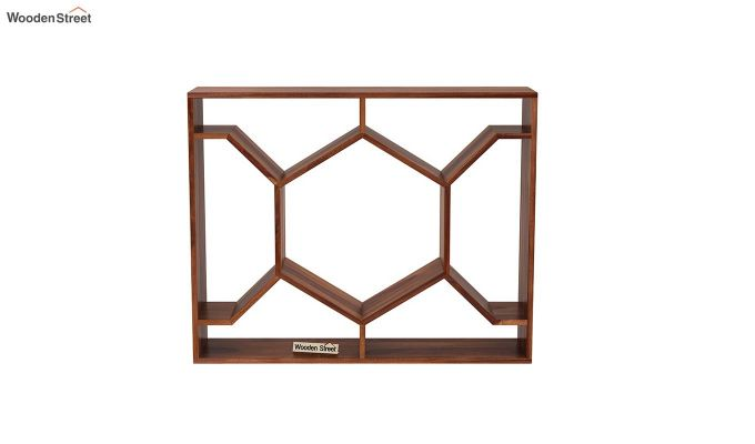 Nesto Wall Shelf (Teak Finish)-3