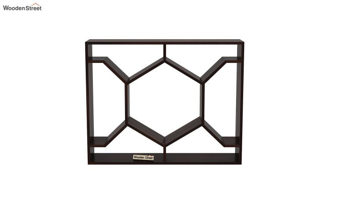 Nesto Wall Shelf (Walnut Finish)-3