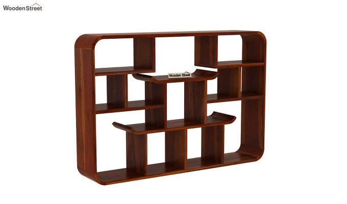 Niho Wall Shelf (Honey Finish)-2
