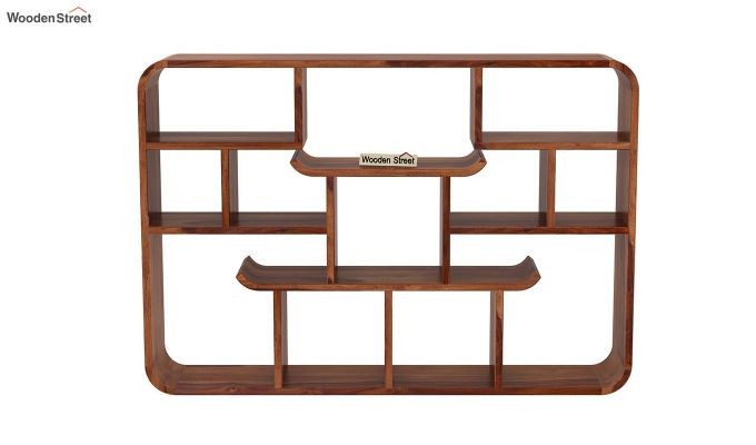 Niho Wall Shelf (Teak Finish)-3