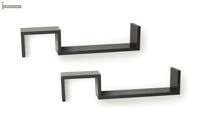 Otto Wall Shelves - Set Of 2 (Black Finish)-2