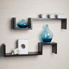 Otto Wall Shelves - Set Of 2 (Black Finish)