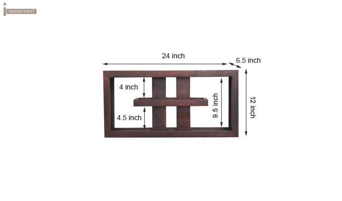 Pelagic Wall Cabinets (Mahogany Finish)-6