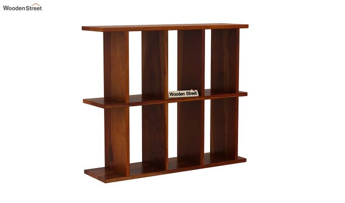 Plaza Wall Shelf (Honey Finish)-2