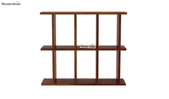 Plaza Wall Shelf (Honey Finish)-3