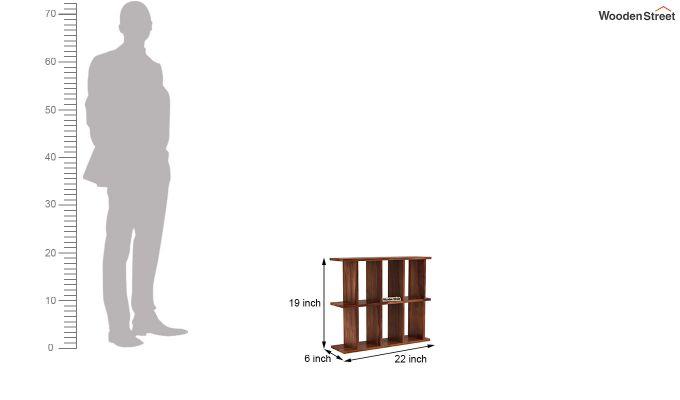 Plaza Wall Shelf (Teak Finish)-4