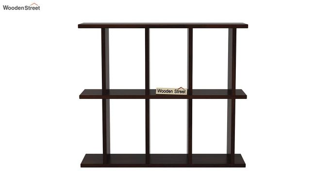 Plaza Wall Shelf (Walnut Finish)-3