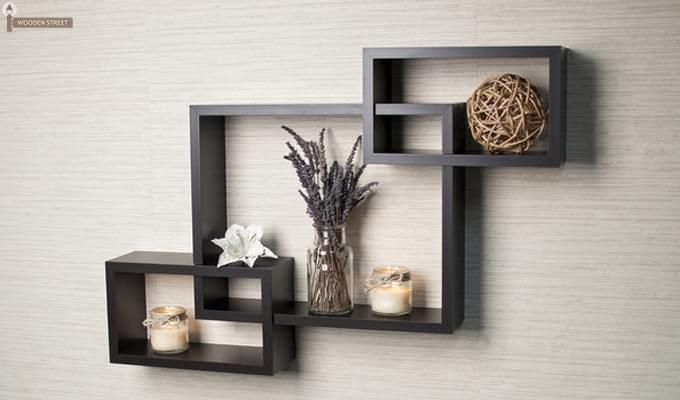 Portland Wall Rack (Black Finish)-1
