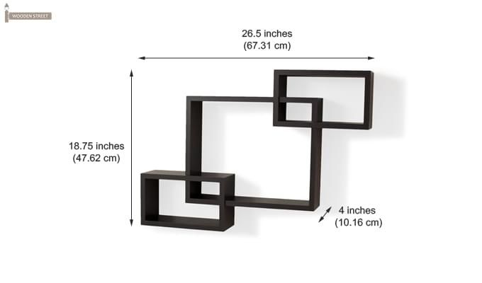 Portland Wall Rack (Black Finish)-3