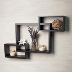 Portland Wall Rack (Black Finish)