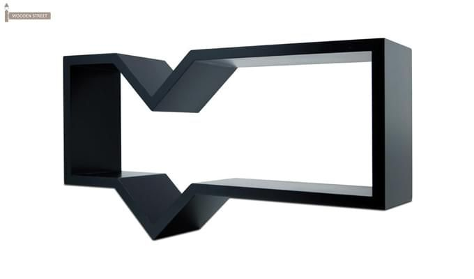 Rebelia Wall Shelves (Black Finish)-3