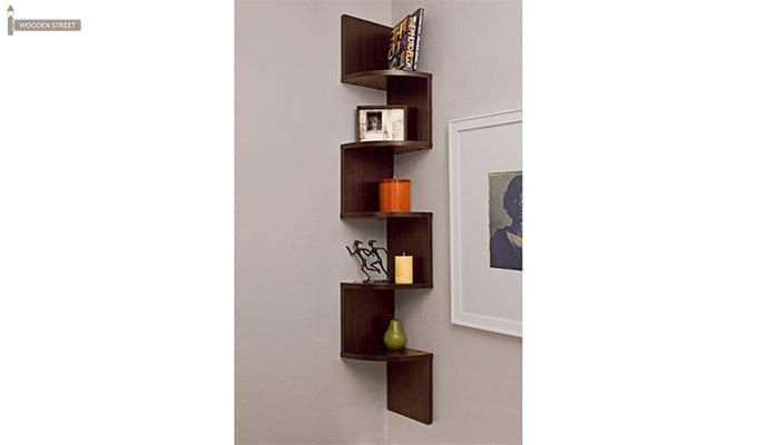 Salvador Wall Shelves (Walnut Finish)-1