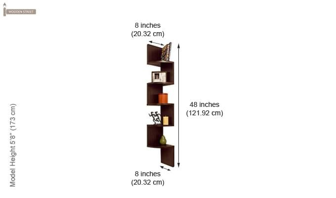 Salvador Wall Shelves (Walnut Finish)-2