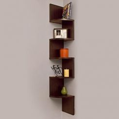 Salvador Wall Shelves (Walnut Finish)