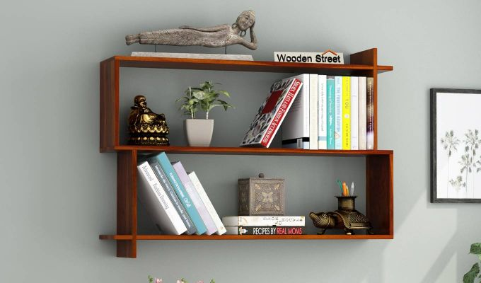 Sculpa Wall Shelf (Honey Finish)-1
