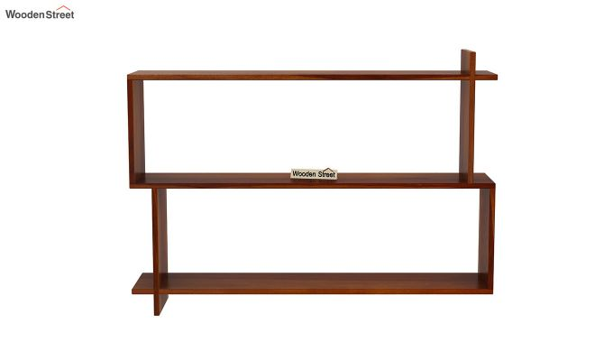 Sculpa Wall Shelf (Honey Finish)-3