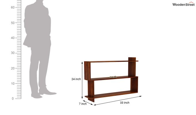 Sculpa Wall Shelf (Honey Finish)-4