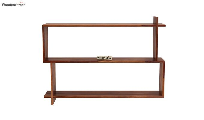 Sculpa Wall Shelf (Teak Finish)-3
