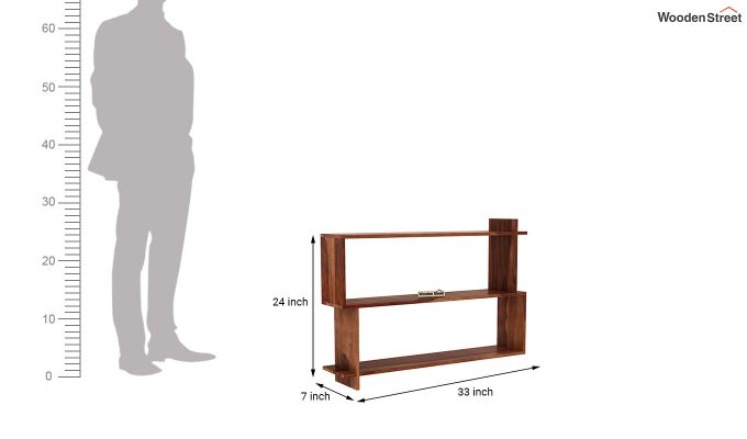 Sculpa Wall Shelf (Teak Finish)-4