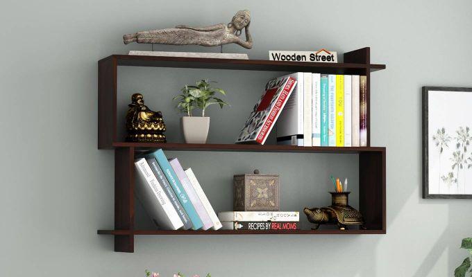 Sculpa Wall Shelf (Walnut Finish)-1