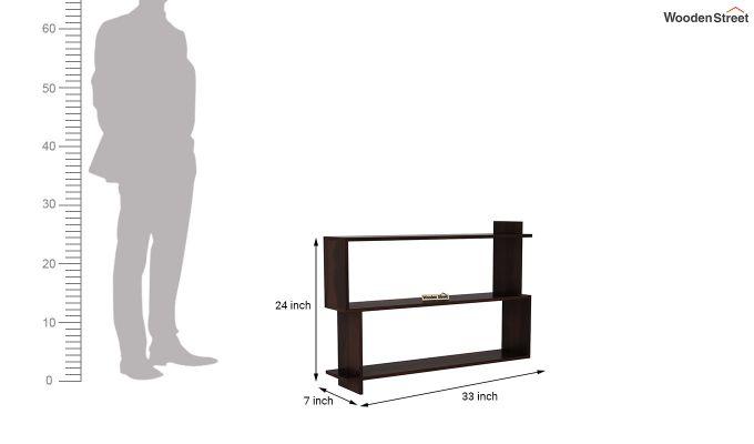 Sculpa Wall Shelf (Walnut Finish)-4