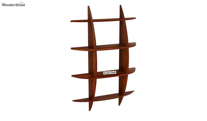 Shelly Wall Shelf (Honey Finish)-2