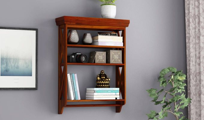 Shire Wall Shelf (Honey Finish)-1