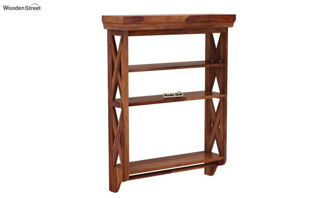 Shire Wall Shelf (Teak Finish)-2