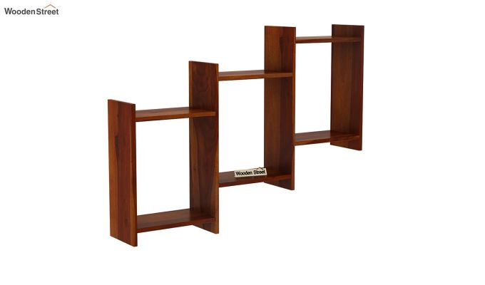 Stairo Wall Shelf (Honey Finish)-2