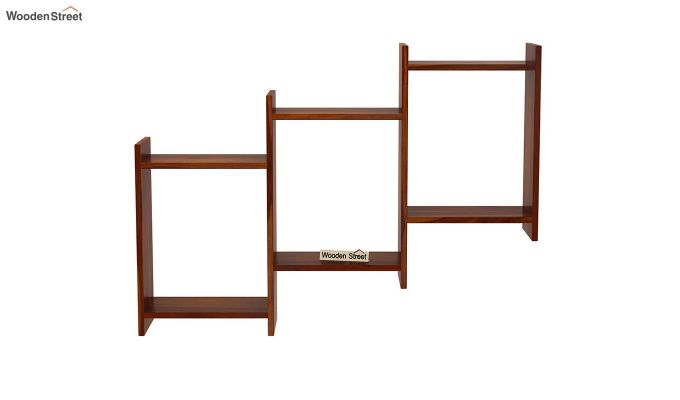 Stairo Wall Shelf (Honey Finish)-3