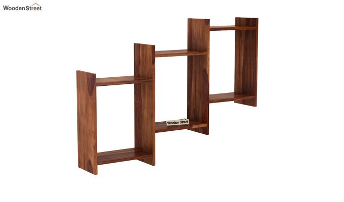 Stairo Wall Shelf (Teak Finish)-2