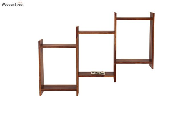 Stairo Wall Shelf (Teak Finish)-3