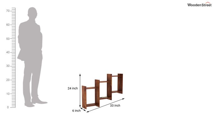 Stairo Wall Shelf (Teak Finish)-4