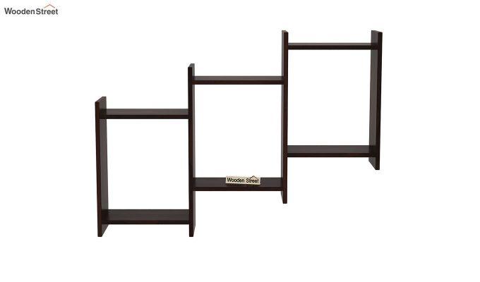 Stairo Wall Shelf (Walnut Finish)-3
