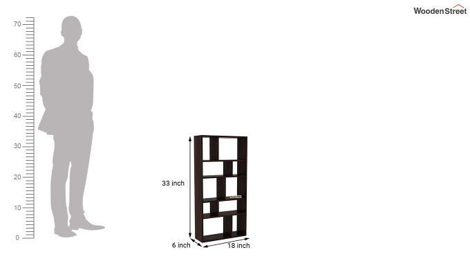 Taris Wall Shelf (Walnut Finish)-4