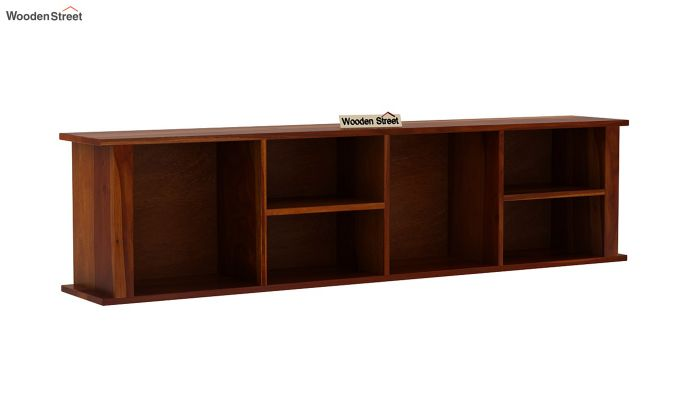 Tia Wall Shelf (Honey Finish)-2