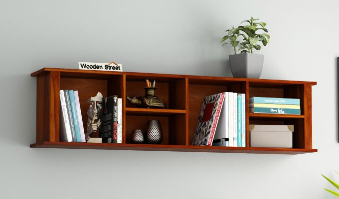 Tia Wall Shelf (Honey Finish)-1