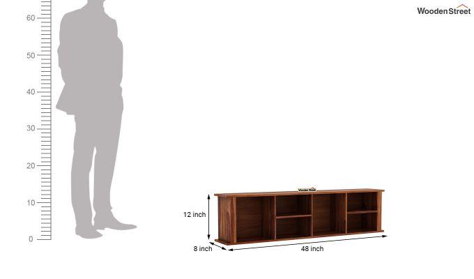 Tia Wall Shelf (Teak Finish)-4